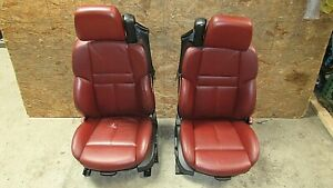 2006 2010 Bmw E64 M6 M Convertible Front Seat Pair Indianapolis Rot Oem 12350