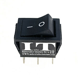 Industec Dpdt 20a 12v 6 Pin Maintained Rocker Switch 2 Position Quick Plug 24v