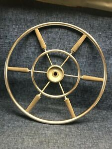 Authentic 22 Inch Stainless Steel Ship S Boat Wheel Destroyer Type