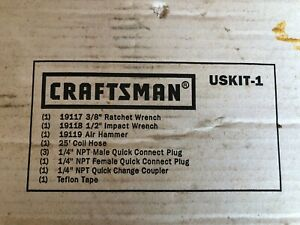 Craftsman 3 Pc Air Tool Set New In Box W Ratchet Impact Wrench Air Hammer