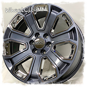 20 Inch Gunmetal Chrome 2020 Gmc Yukon Denali Xl Oe Replica 5660 Rims 6x5 5 31