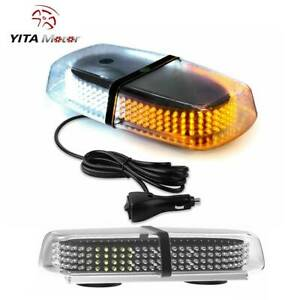 Amber White Roof Top 240 Leds Emergency Strobe Light Safety License Plate Light