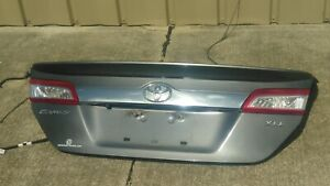 2012 2014 Toyota Camry Xle Trunk Lid Deck Lid W Spoiler Back Up Camera Oem