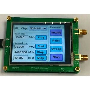Adf4350 Rf Signal Generator W Touch Screen Spot Frequency Sweep Frequency Xr