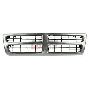 Grille Front Chrome And Black Fits 1999 2003 Dodge Ram 1500 Van 55076540ad