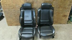 2001 2006 Bmw E46 M3 M Convertible Black Nappa Leather Front Seat Pair Oem 11515