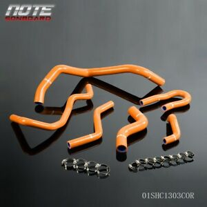 For 92 00 Honda Civic 1 6l Sohc D15 D16 Eg Ek Silicone Radiator Hose Kit Orange