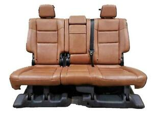 11 13 Jeep Grand Cherokee Rear Seat Set New Saddle Leather Overland Package Oem