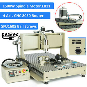 Cnc8050 Usb 1 5kw 4 Axis Cnc Router Woodworking Milling Carving Engraver Machine