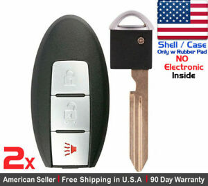 2 New Replacement Keyless Entry Key Fob For Nissan Smart Cwtwb1u815 Shell Only