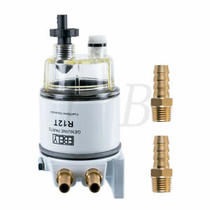 R12t Fuel Filter Water Separator 120at With Fuel Fitting For Boat Marine Spin on