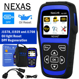 Heavy Duty Truck Hd Check Scanner Obd2 Dpf Regen Oil Sensor Diagnostic Nl102p Us