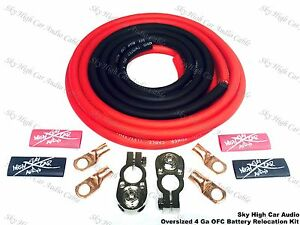 Oversized 4 Ga Ofc Battery Cable Relocation Kit 12 2 W Terminals Imca Ump K1