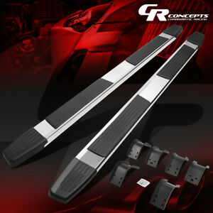 Pair 6 Quad Cab Stainless Flat Running Board Step Bar For 2009 2020 Ram 1500