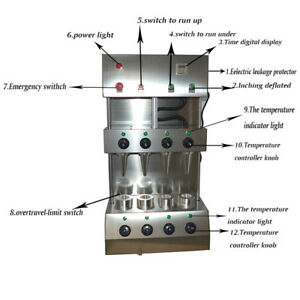 110v 2600w Commercial Pizza Cone Forming Machine With Vortical Oven Us Seller