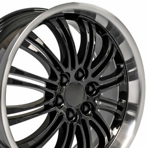 22 Rims Fit Cadillac Escalade Tahoe Yukon Black Mach D Wheels 5413