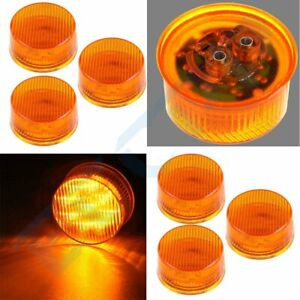 6x2 Inch Round 9 Led Side Marker Tail Turn Light For Truck Trailer Universal