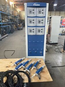 Nordson Encore 6 gun Automatic Powder Coating System New