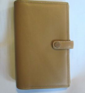 Coach Camel Tan Leather W Pen Folio Snap Planner 6 5 X 4 25 Snap Closure