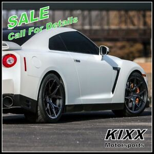 20 Rohana Rfx5 20x10 12 Forged Black Concave Wheels Rims For Nissan Gt R
