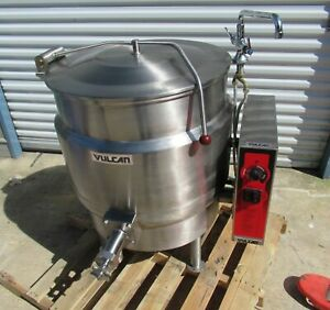 Vulcan K40el 40 Gal Stationary Steam Jacketed Electric Kettle 208v 3 1 Phase