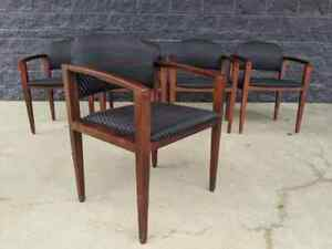 5 Contemporary Haworth Myrtle mueller Tally Solid Maple Guest Lobby Chairs