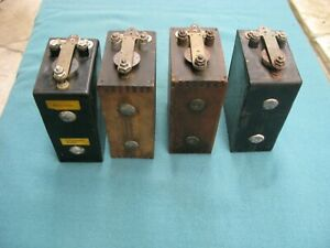 Ford Model A Or T Battery Box Ignition Coil Set Of 4 Untested Vintage Old