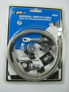 Mr Gasket 5657 Stainless Steel Braided Throttle Cable Kit 36 In Cable 24 Sle