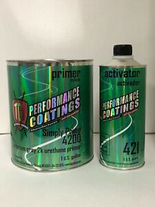 Automotive High Build 2k Urethane Primer Gray Gallon Kit