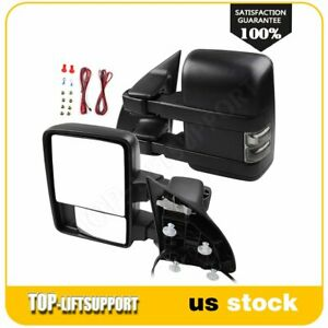 Puddle Clearance Arrow Lamp Turn Signal Power Heated Mirrors For 03 07 Ford F250