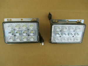 2 Led Headlights For John Deere Light Jd 6520l 6615 6715 7130 7220 7230 7320