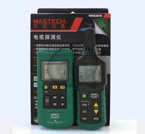 Ms6818 12v 400v Wire Cable Locator Metal Pipe Detector Tester Line Tracker