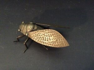 Antique Japanese Articulated Bronze Cicada
