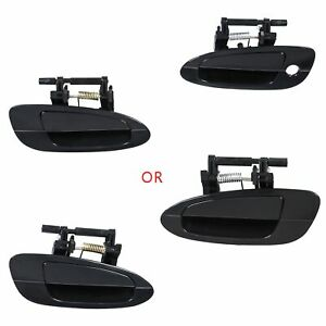 Door Handle Smooth Black Exterior Front Rear Left Right For 02 06 Nissan Altima