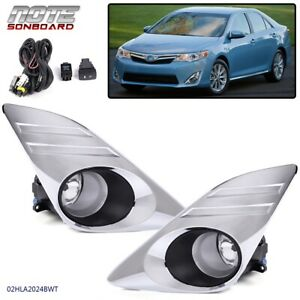 For 2012 2014 Toyota Camry L Le Xle Bumper Driving Fog Light Chrome Cover