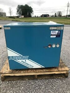 Used 125 Hp Arrow Refrigerated Air Dryer 230 Volt 1 Phase