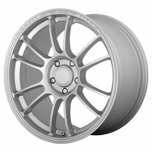 Four 4 17x8 5 Motegi Ss6 Et 42 Silver 4x100 Wheels Rims