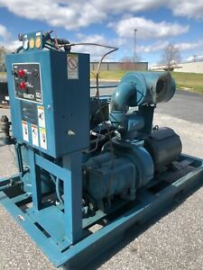 Used 50 hp Quincy Rotary Air Compressor On Open Skid Mount