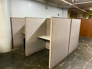 4 x4 x64 h Telemarketing Cubicle partition System By Steelcase Office Furniture