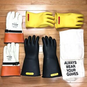 Salisbury Lineman Gloves Protectors Size 11 Class 2 Type 1 17000v Bag Rubber