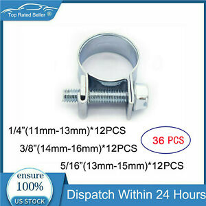 45 Pcs 1 4 5 16 3 8 Fuel Injection Hose Pipe Clamp Auto Fuel Clamps Us