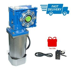 Ac Electric Worm Geared Motor 120w 110 220v 50hz With Speed Controller Low Speed