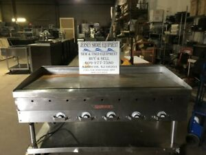 Vulcan 60 Nat Gas Heavy Duty 3 4 Griddle Flat Top Thermostatic Grill W stand