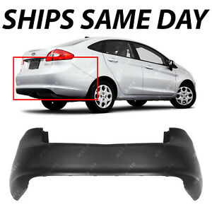 New Primered Rear Bumper Cover Replacement For 2011 2012 2013 Ford Fiesta Sedan
