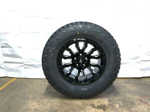 18x9 Fuel D673 Blitz Black Wheels Rims 33 At Tires 6x5 5 Chevy Silverado 1500