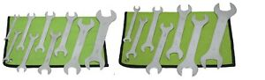 16 Pc Piece Super Thin Wrench Set Sae Mm Metric Case Spanner
