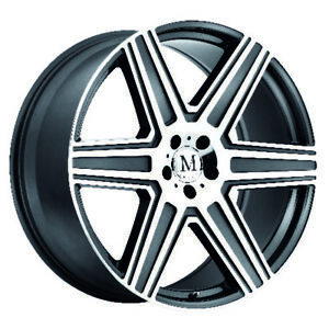 Mandrus Atlas Rims Wheels For Mercedes 17x8 5x112 Gunmetal W Mirror Cut Qty4
