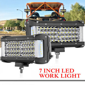 4inch 90w Side Shooter Led Pods Cree Work Light Bar Spot Flood Driving Offroad