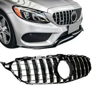 Gt R Amg Style Grill Grille Front Bumper For Mercedes Benz W205 C250 C300 C400