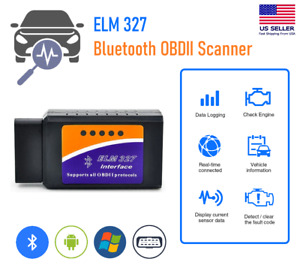 Bluetooth Obd2 Obdii Car Diagnostic Scanner Auto Fault Code Reader Tool Elm327